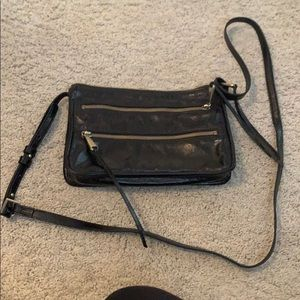 Black crossbody hobo